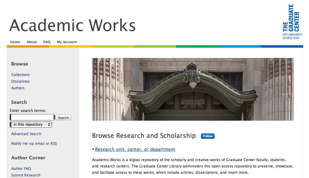 Snapshot of Graduate Center Academic Works