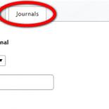 journals tab