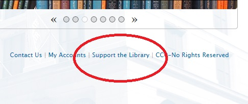 Support the Library - front page