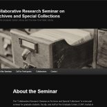 Seminar website screenshot
