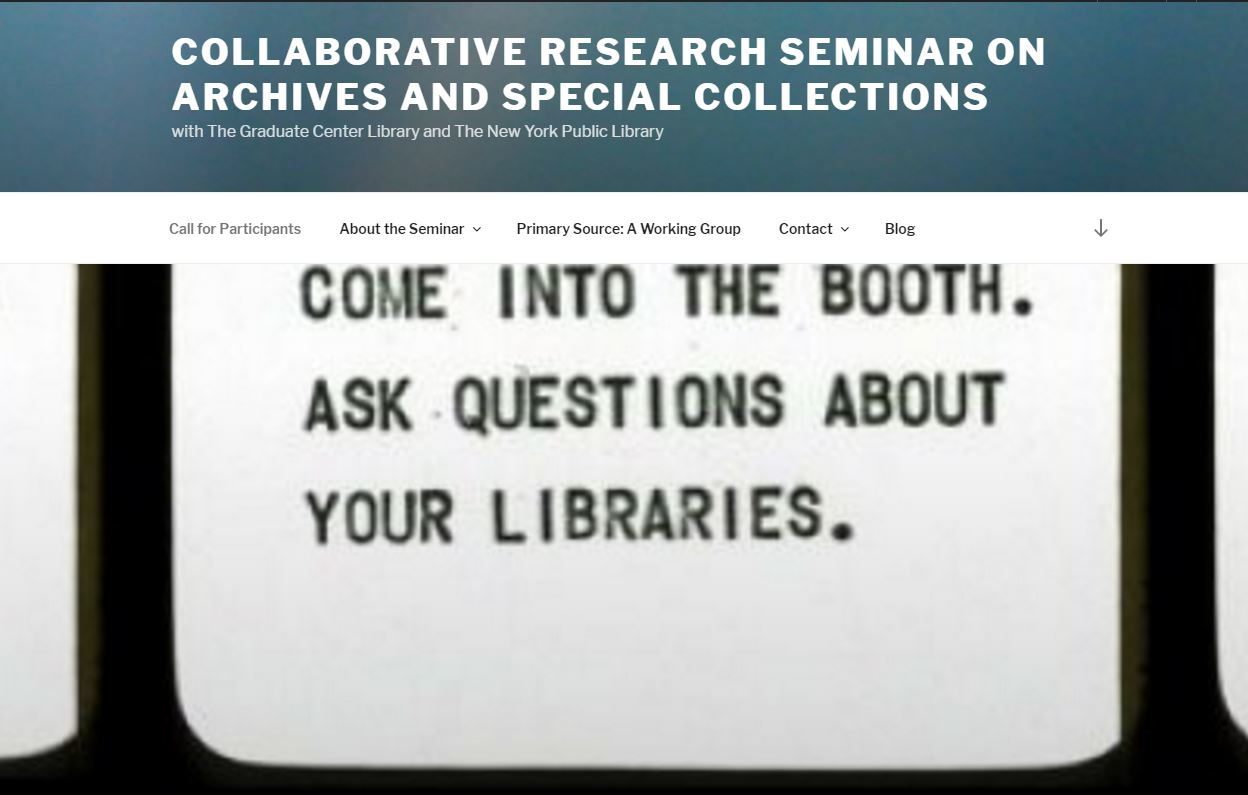 Collaborative Student Research ~ Friends activity conor tomás reed cuny academic commons