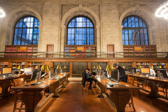 Image of the New York Public Library's Rose Reading Room